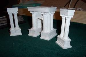 "What lies ahead? These unfinished columns will be a key component to the arena I'm making for the next installment of the Age of Worms, ""The Champion's Belt."""