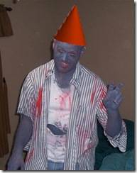 This is me from my halloween costume last year. Tremble at the Gnome-Zombie!
