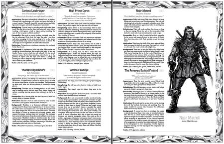 Masks preview 1: Fantasy NPCs — and a host of info about the book