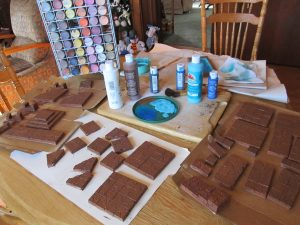 You have a chocolate bar dungeon. Looks good, but there's still some more work to be done.