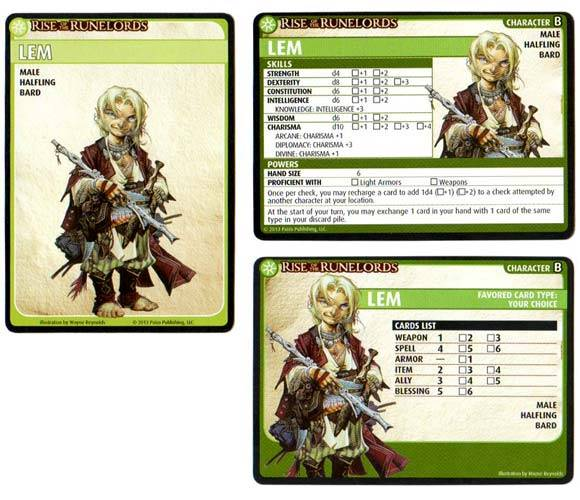 A picture of Lem's character card