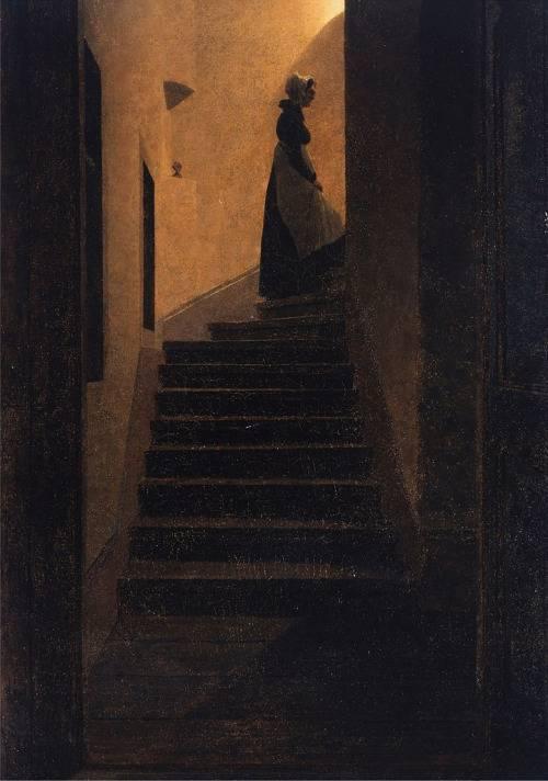 """Lady on the Staircase"", by Caspar David Friedrich Wikipedia"