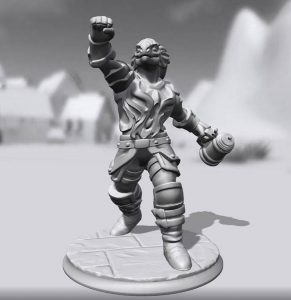 A HeroForge example. My beer drinking dragonborn cleric. She's a hoot.
